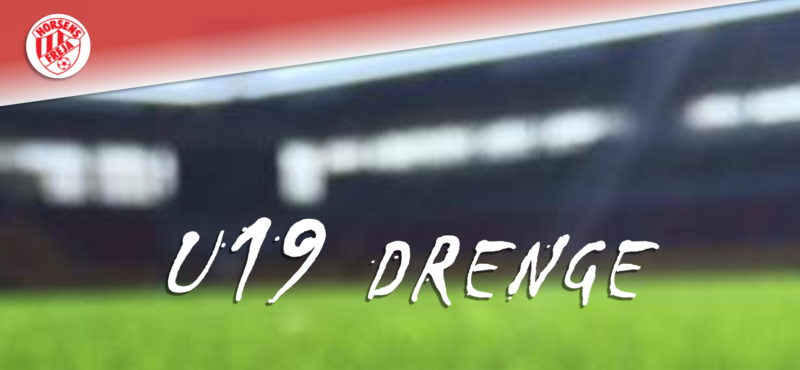 Nyopstartet hold for U19, drenge